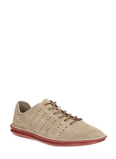 Clarks %100 Deri Bağcıklı Ayakkabı Bej